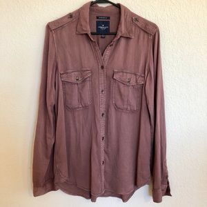 American eagle outfitters button shirt oversized